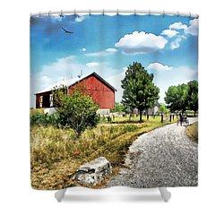 Peter Stuckey Farm Shower Curtain by Tom Schmidt
