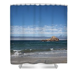 Pfeiffer Beach Shower Curtain by Ralf Kaiser