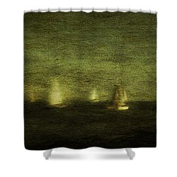 Phantom Fleet Shower Curtain by Andrew Paranavitana