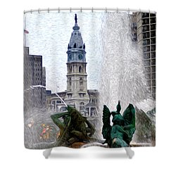 Philadelphia Fountain Shower Curtain by Bill Cannon