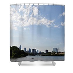 Philadelphia From Kelly Drive Shower Curtain by Bill Cannon
