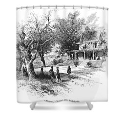 Philadelphia: Norwood Shower Curtain by Granger