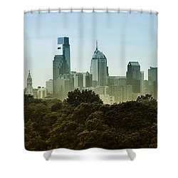 Philly Panorama Shower Curtain by Bill Cannon