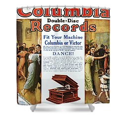Phonograph Ad, 1914 Shower Curtain by Granger