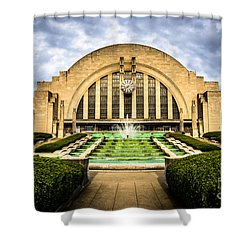 Photo Of Cincinnati Museum Center  Shower Curtain by Paul Velgos