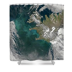 Phytoplankton Bloom In The North Shower Curtain by Stocktrek Images