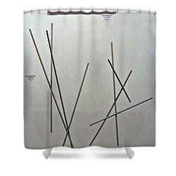 Pick Up Sticks And Thunderbird Shower Curtain by John Neumann
