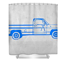 Pick Up Truck Shower Curtain by Naxart Studio