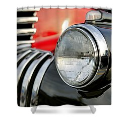 Pickup Chevrolet Headlight. Miami Shower Curtain