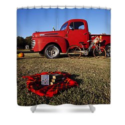Picnic Time  Shower Curtain by Toni Hopper