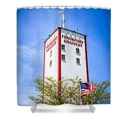 Picture Of Frankfort Grainery In Frankfort Illinois Shower Curtain by Paul Velgos