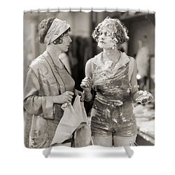 Pie In The Face Shower Curtain by Granger