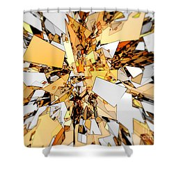 Shower Curtain featuring the digital art Pieces Of Gold by Phil Perkins