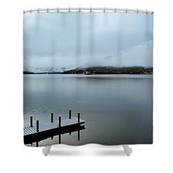 Shower Curtain featuring the photograph Pier On The Loch by Lynn Bolt