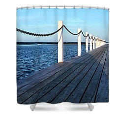 Pier To The Ocean Shower Curtain by Kaye Menner