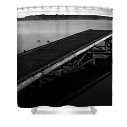 Piers Of Pleasure  Shower Curtain by Empty Wall