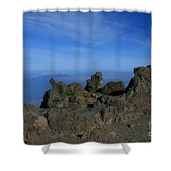 Pihanakalani Haleakala - House Of The Sun - Summit Sunrise Maui Shower Curtain by Sharon Mau