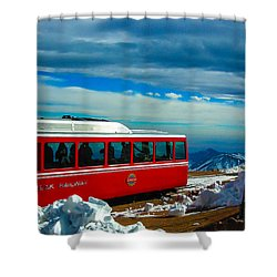Shower Curtain featuring the photograph Pikes Peak Railway by Shannon Harrington