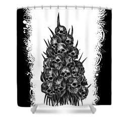 Pile Of Skulls Shower Curtain