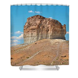 Pilot Butte Rock Formation II Shower Curtain by Donna Greene