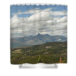 Pilot Peak Panorama Shower Curtain