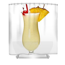 Pina Colada Cocktail Shower Curtain by Elena Elisseeva