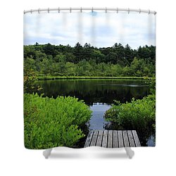 Pine Hole Pond Shower Curtain