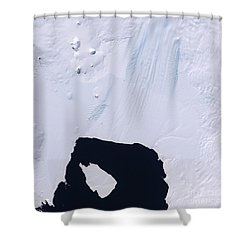 Pine Island Glacier Shower Curtain by Stocktrek Images