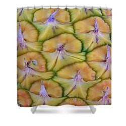Pineapple Eyes Shower Curtain by Mary Deal