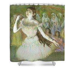 Pink Dancer  Shower Curtain by Edgar Degas