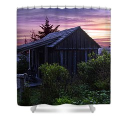 Pink Dawn Shower Curtain by Debra and Dave Vanderlaan
