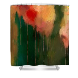 Pink Drips Shower Curtain by Michael Pickett