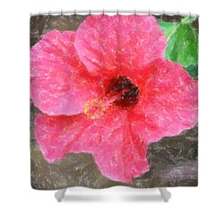 Shower Curtain featuring the photograph Pink Hibiscus by Donna  Smith