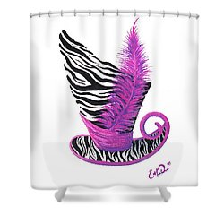 Shower Curtain featuring the painting Pink Magic Hat by Oddball Art Co by Lizzy Love