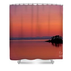 Pink Morn At Rock Point Shower Curtain