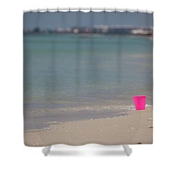 Pink Pail Shower Curtain