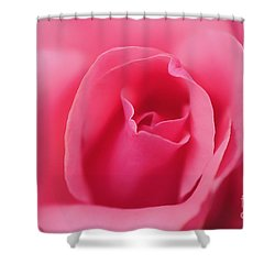 Pink Precious Powerful Rose Shower Curtain by Clayton Bruster