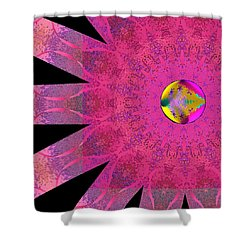 Shower Curtain featuring the digital art Pink Ribbon Of Hope by Alec Drake