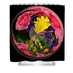Pink Rose Globe Shower Curtain by Phyllis Denton