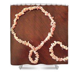 Pink Stone Necklace Bracelet Shower Curtain by Sonali Gangane