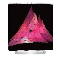 Pink Triangles Shower Curtain by Lynn Bolt