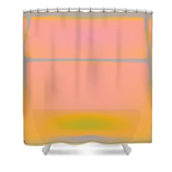 Pink Yellow And Grey Shower Curtain