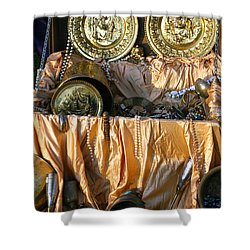 Pirate Chest Booty Shower Curtain by LeeAnn McLaneGoetz McLaneGoetzStudioLLCcom