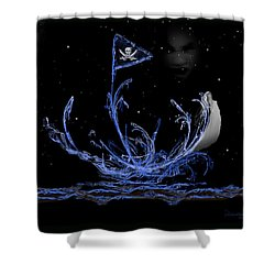 Pirate Ship Shower Curtain by EricaMaxine  Price