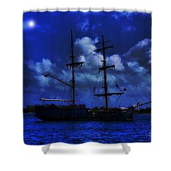 Pirate's Blue Sea Shower Curtain