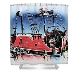 Pirates Ransom - Clearwater Florida Shower Curtain by Bill Cannon