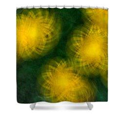 Pirouetting Dandelions Shower Curtain