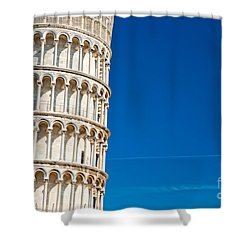 Shower Curtain featuring the photograph Pisa Leaning Tower by Luciano Mortula
