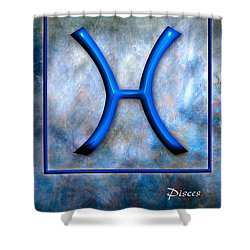Pisces  Shower Curtain by Mauro Celotti
