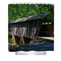 Pisgah Covered Bridge Shower Curtain